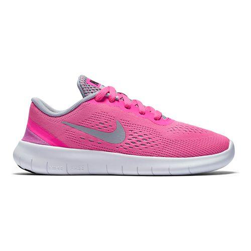 Kids Nike Free RN Running Shoe - Grey/Pink 11C