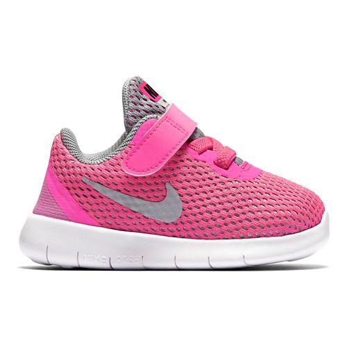 Kids Nike Free RN Running Shoe - Grey/Pink 8C
