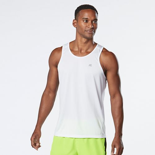 Mens R-Gear Runner's High Printed Singlet Sleeveless & Tank Technical Tops - White XL