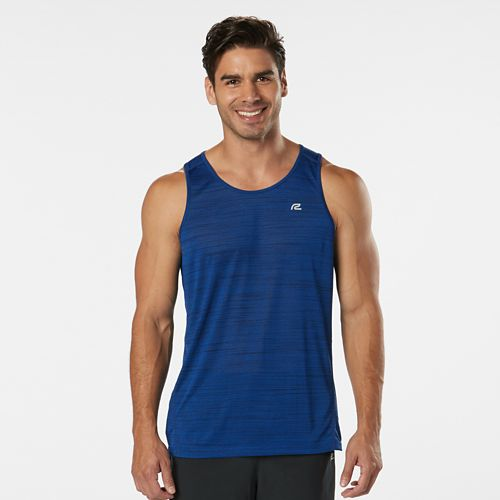Mens R-Gear Runner's High Printed Singlet Sleeveless & Tank Technical Tops - Cobalt L