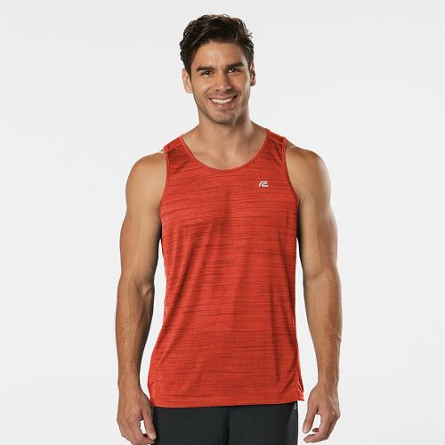 Mens R-Gear Runner's High Printed Singlet Sleeveless & Tank Technical Tops - Blaze L
