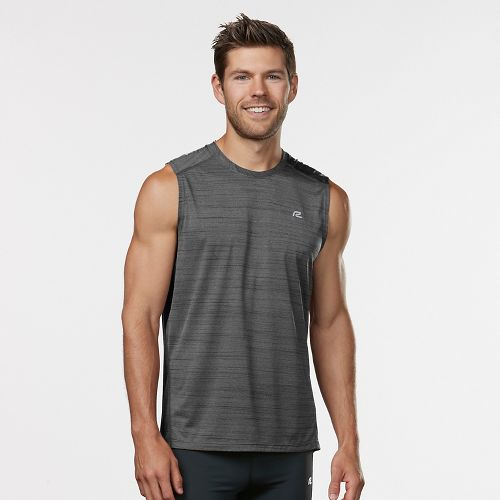 Mens R-Gear Runner's High Printed Sleeveless & Tank Technical Tops - Steel S