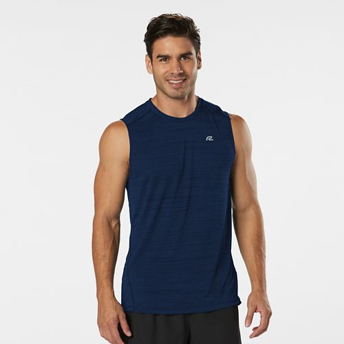 Mens Road Runner Sports Runner's High Printed Sleeveless & Tank Technical Tops - Cobalt L ...