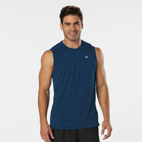Mens Road Runner Sports Runner's High Printed Sleeveless & Tank Technical Tops - Pilot Blue ...