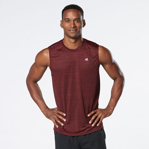 Mens R-Gear Runner's High Printed Sleeveless & Tank Technical Tops - Red Ahead S