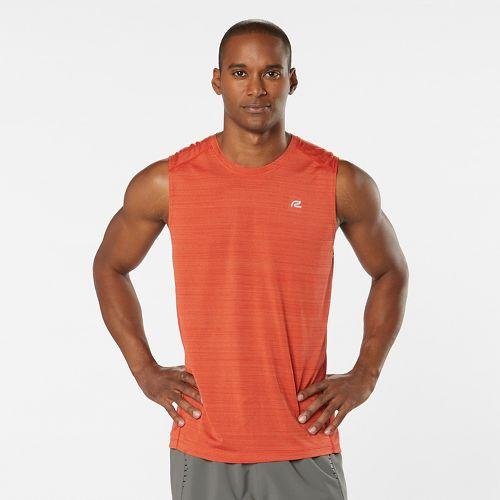Mens Road Runner Sports Runner's High Printed Sleeveless & Tank Technical Tops - Blaze L ...