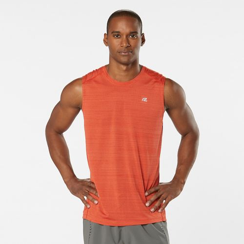 Mens Road Runner Sports Runner's High Printed Sleeveless & Tank Technical Tops - Blaze S ...