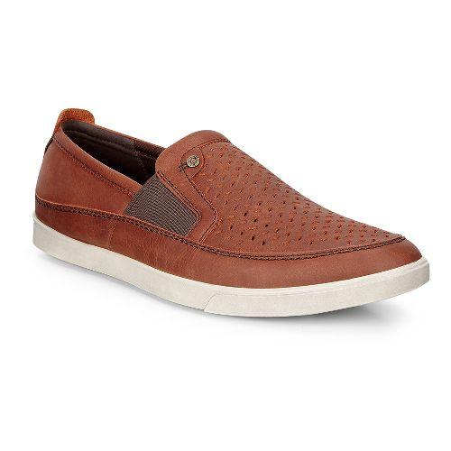 Mens Ecco Collin Perf Slip-On Casual Shoe - Cognac 43