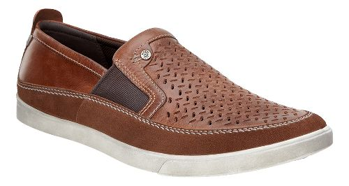 Mens Ecco Collin Perf Slip-On Casual Shoe - Bison/Cognac 39