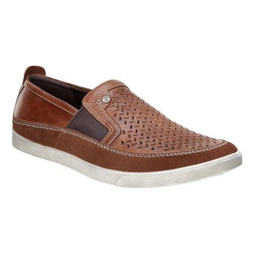 Mens Ecco Collin Perf Slip-On Casual Shoe - Bison/Cognac 40