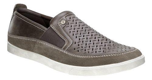 Mens Ecco Collin Perf Slip-On Casual Shoe - Dark Clay 45