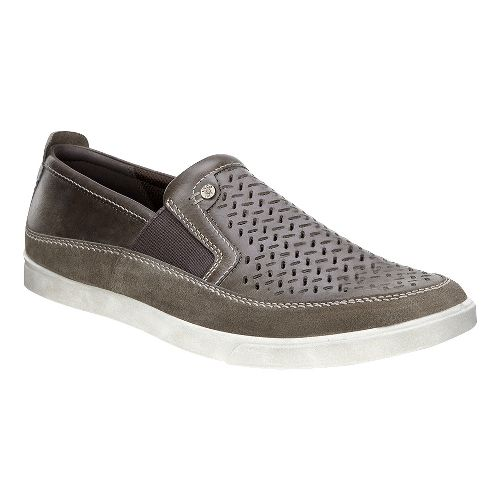 Mens Ecco Collin Perf Slip On Casual Shoe - Dark Clay 43