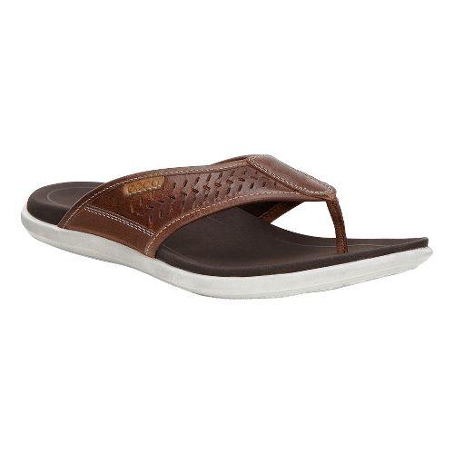 Mens Ecco Collin Thong Sandals Shoe - Bison/Cognac 39