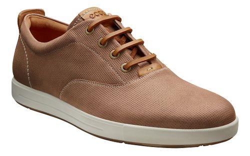 Mens Ecco Eisner Retro Sneaker Casual Shoe - Amber/Mink 46