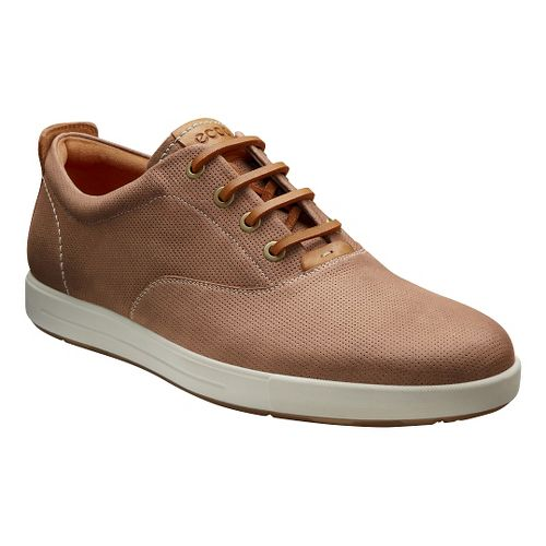 Mens Ecco Eisner Retro Sneaker Casual Shoe - Amber/Mink 42