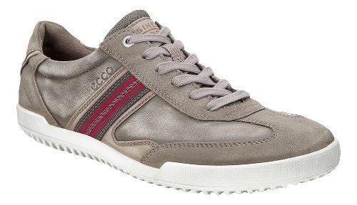 Mens Ecco Graham Retro Sneaker Casual Shoe - Warm Grey 42
