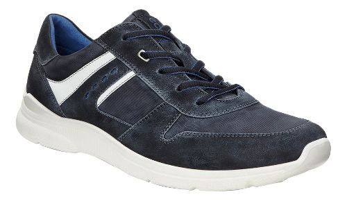 Mens Ecco Irondale Retro Sneaker Casual Shoe - Black/Black 45