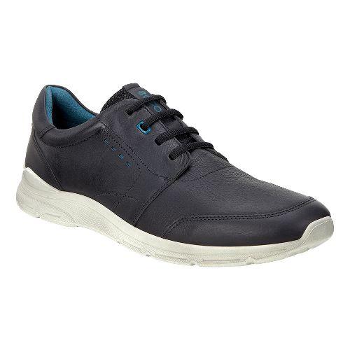 Mens Ecco Irondale Tie Casual Shoe - Black/Cow Nubuck 43