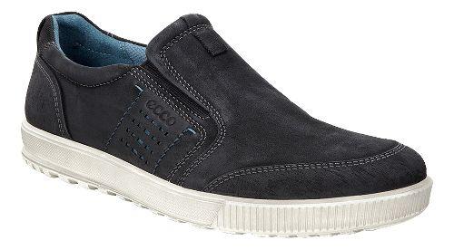 Mens Ecco Ennio Slip On Casual Shoe - Black/Black 42