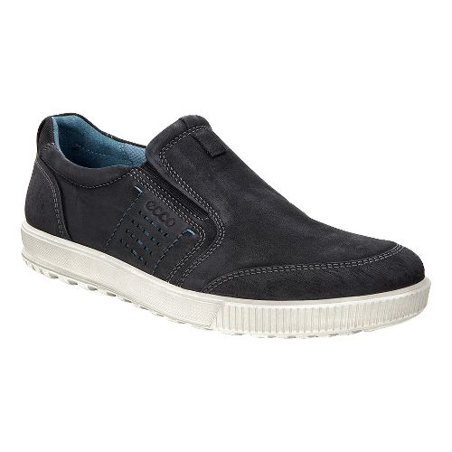 Mens Ecco Ennio Slip On Casual Shoe - Black/Black 42