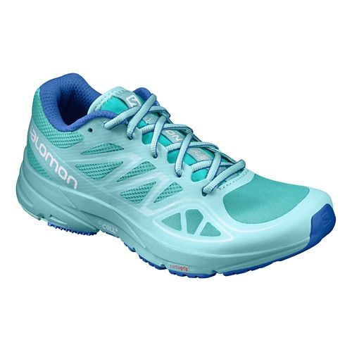 Womens Salomon Sonic Aero Running Shoe - Aqua/Blue 11