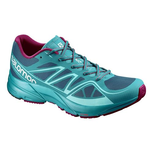 Womens Salomon Sonic Aero Running Shoe - Turquoise/Purple 8.5