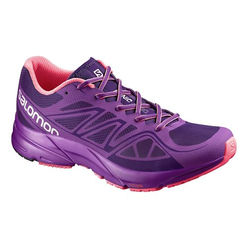 Womens Salomon Sonic Aero Running Shoe - Purple/Pink 7.5
