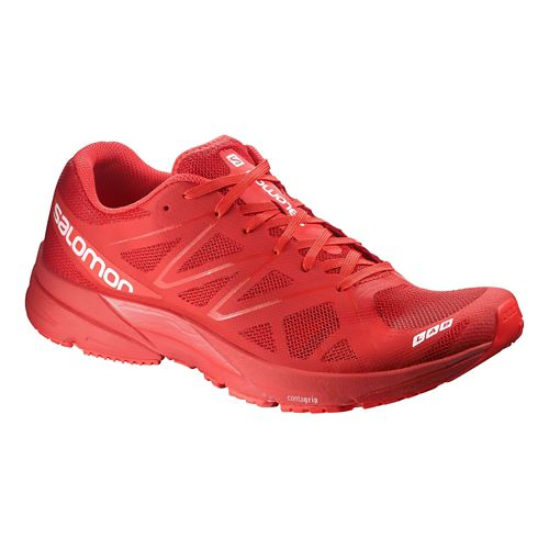 Womens Salomon S-Lab Sonic Running Shoe - Red 11