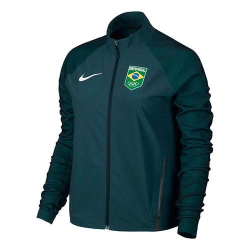 Womens Nike COB Stadium Casual Jackets - Midnight Turquoise L