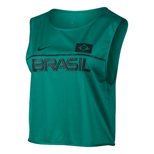 Womens Nike Dry Top Energy Brazil Short Sleeve & Tank Technical Tops - Rio Teal ...