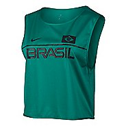 Womens Nike Dry Top Energy Brazil Short Sleeve & Tank Technical Tops