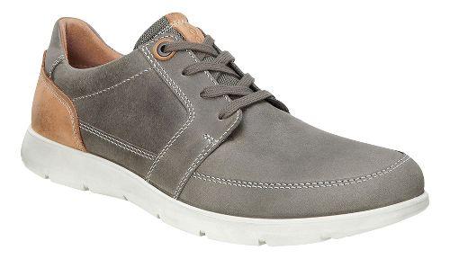 Mens Ecco Iowa Tie Casual Shoe - Stone 46