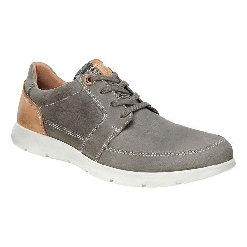 Mens Ecco Iowa Tie Casual Shoe - Stone 40