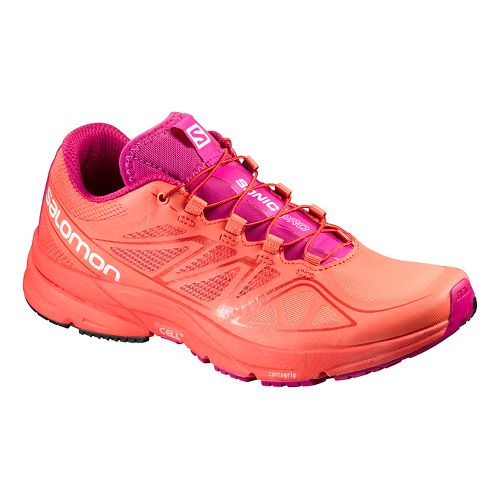 Womens Salomon Sonic Pro Running Shoe - Coral Punch 10