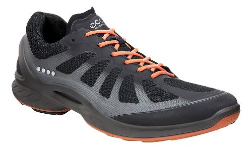 Mens Ecco BIOM Fjuel Racer Walking Shoe - Black/Orange 43