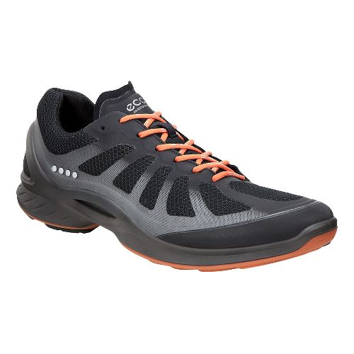 Mens Ecco BIOM Fjuel Racer Walking Shoe - Black/Orange 44