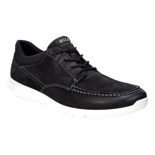 Mens Ecco Calgary Lace Casual Shoe - Black/Black 47