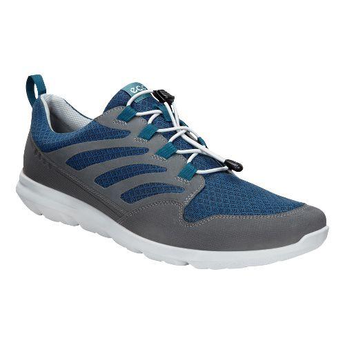 Mens Ecco Calgary Sneaker Casual Shoe - Dark Shadow/Denim 46