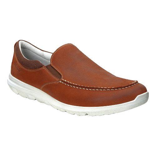 Mens Ecco Calgary Sneaker Casual Shoe - Cognac 42
