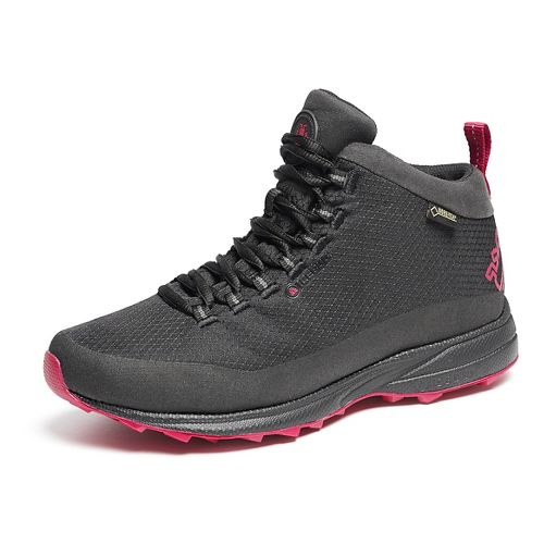 Womens Icebug Juniper GTX RB9X Running Shoe - Black/Zinnia 9.5
