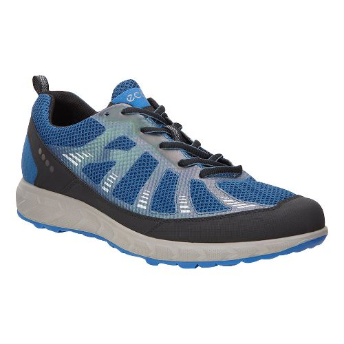 Mens Ecco Terratrail Trail Running Shoe - Black/Poseidon 46