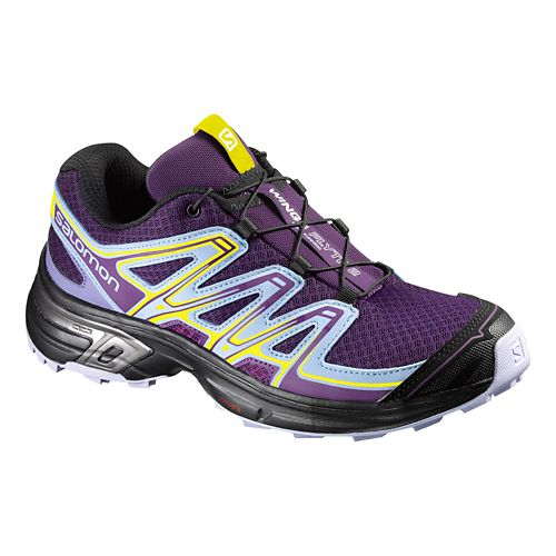 Womens Salomon Wings Flyte 2 Running Shoe - Purple/Black 7