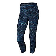 Womens Nike Epic Run Lux Crop Printed Capris Tights