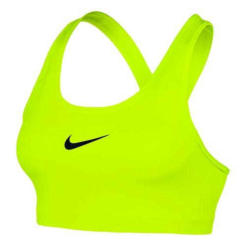 Womens Nike Pro Classics Sports Bra - Volt L