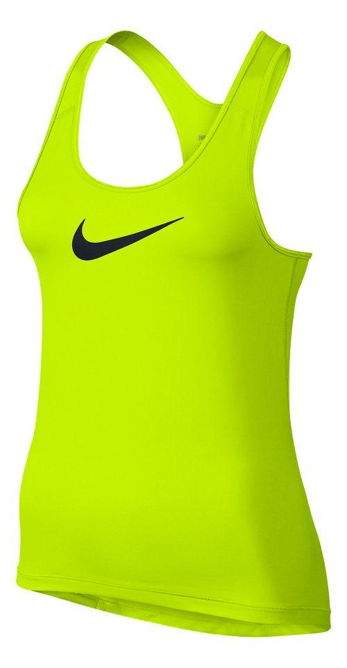 Womens Nike Pro Cool Sleeveless & Tank Technical Tops - Volt L