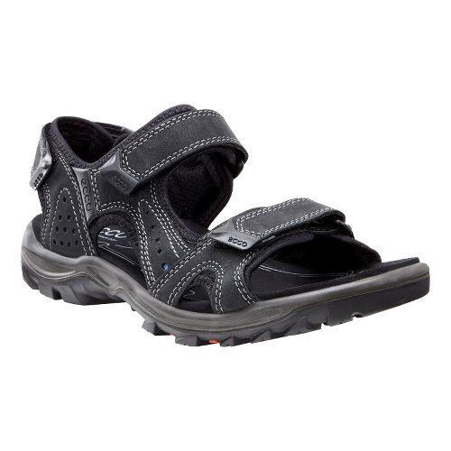 Mens Ecco Cheja Sandals Shoe - Black/Denim 42