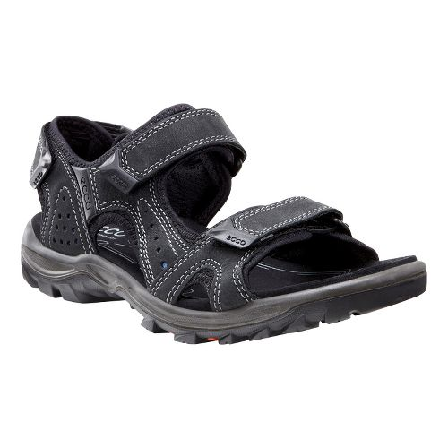 Mens Ecco Cheja Sandals Shoe - Black/Denim 47