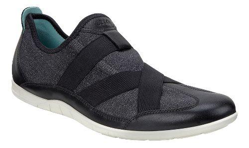 Womens Ecco Bluma Slip On Casual Shoe - Black/White 38