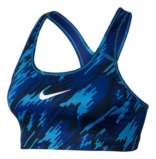 Womens Nike Pro Classic Overdrive Sports Bra - Light Photo Blue M