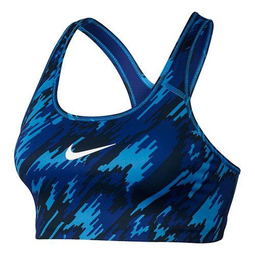 Womens Nike Pro Classic Overdrive Sports Bra - Light Photo Blue L